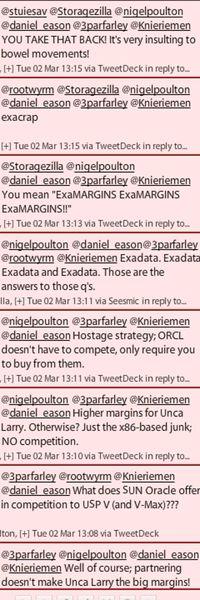 Oracle hds tweets