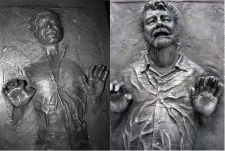 Cast in carbonite - solo and lucas