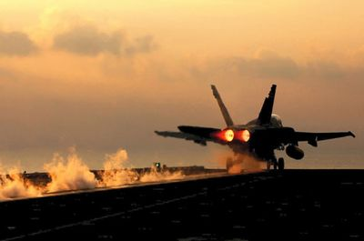 Taking-off-from-aircraft-carrier